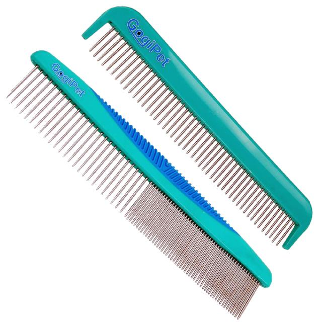 Detangling comb and dog grooming comb